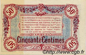 50 centimes france r gionalisme et divers troyes 1918 spl neuf c124 09n billets. Black Bedroom Furniture Sets. Home Design Ideas