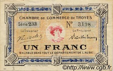 1 franc france r gionalisme et divers troyes 1918 c124 10s billets. Black Bedroom Furniture Sets. Home Design Ideas