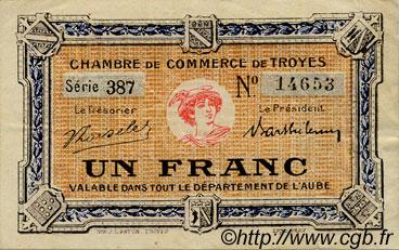 1 franc france r gionalisme et divers troyes 1918 for Chambre de commerce de troyes