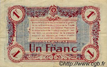 1 franc france r gionalisme et divers troyes 1918 ttb sup c124 12s billets. Black Bedroom Furniture Sets. Home Design Ideas