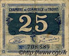 25 centimes france r gionalisme et divers troyes 1918 c124 15t billets. Black Bedroom Furniture Sets. Home Design Ideas