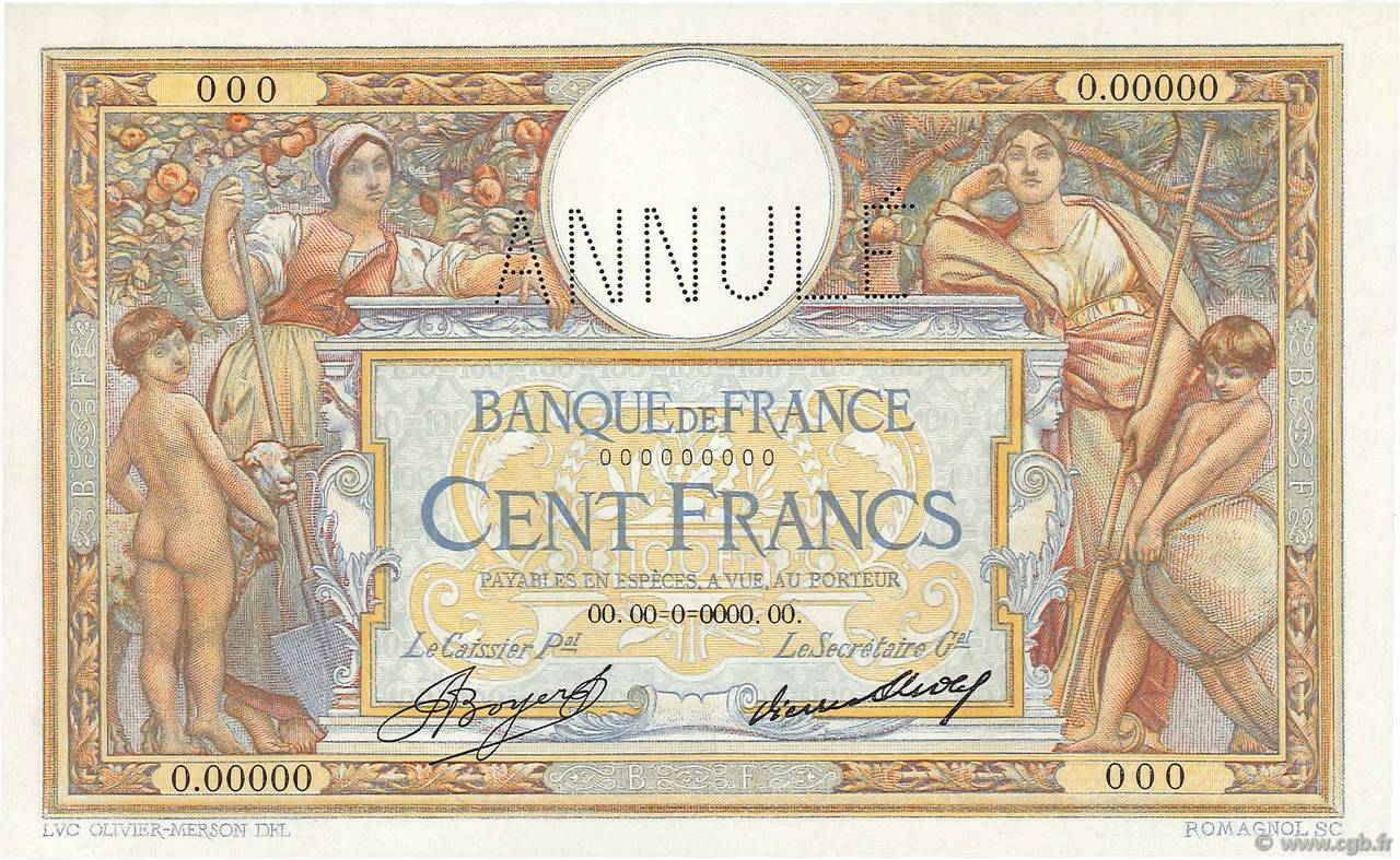 100 Francs LUC OLIVIER MERSON grands cartouches FRANCE  1933 F.24.00e1 pr.NEUF