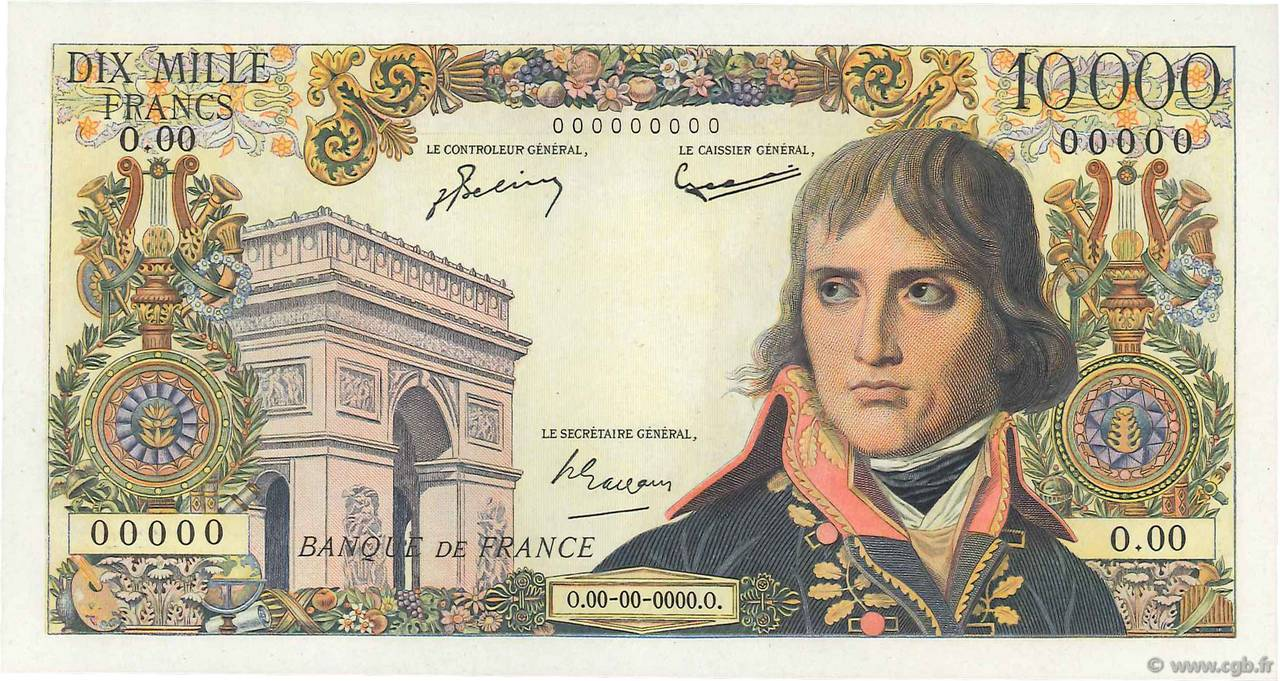 10000 Francs BONAPARTE FRANCE  1955 F.51.00 NEUF