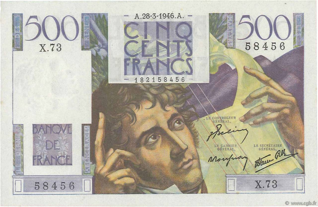 500 Francs CHATEAUBRIAND FRANCE  1946 F.34.05 pr.NEUF