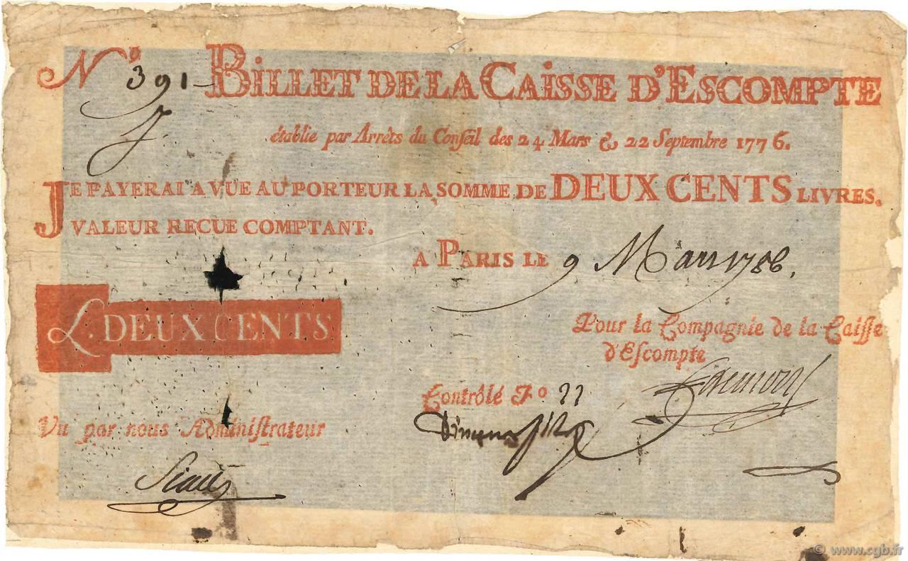 200 livres france 1786 4080019 billets - 200 euros en livres ...