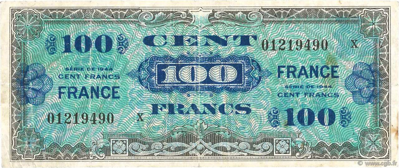 100 Francs FRANCE FRANCE  1945 VF.25.12 pr.TB