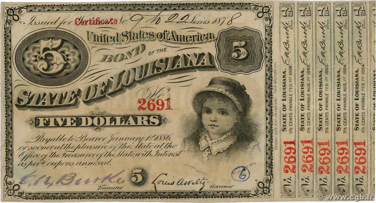 5 Dollars UNITED STATES OF AMERICA  1878  XF