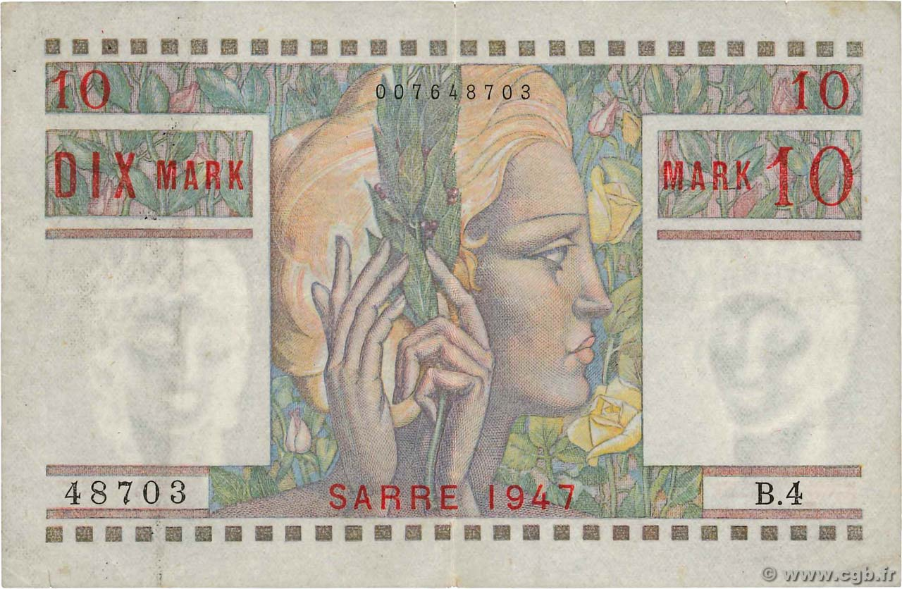 10 Mark SARRE FRANCE  1947 VF.47.01 TTB