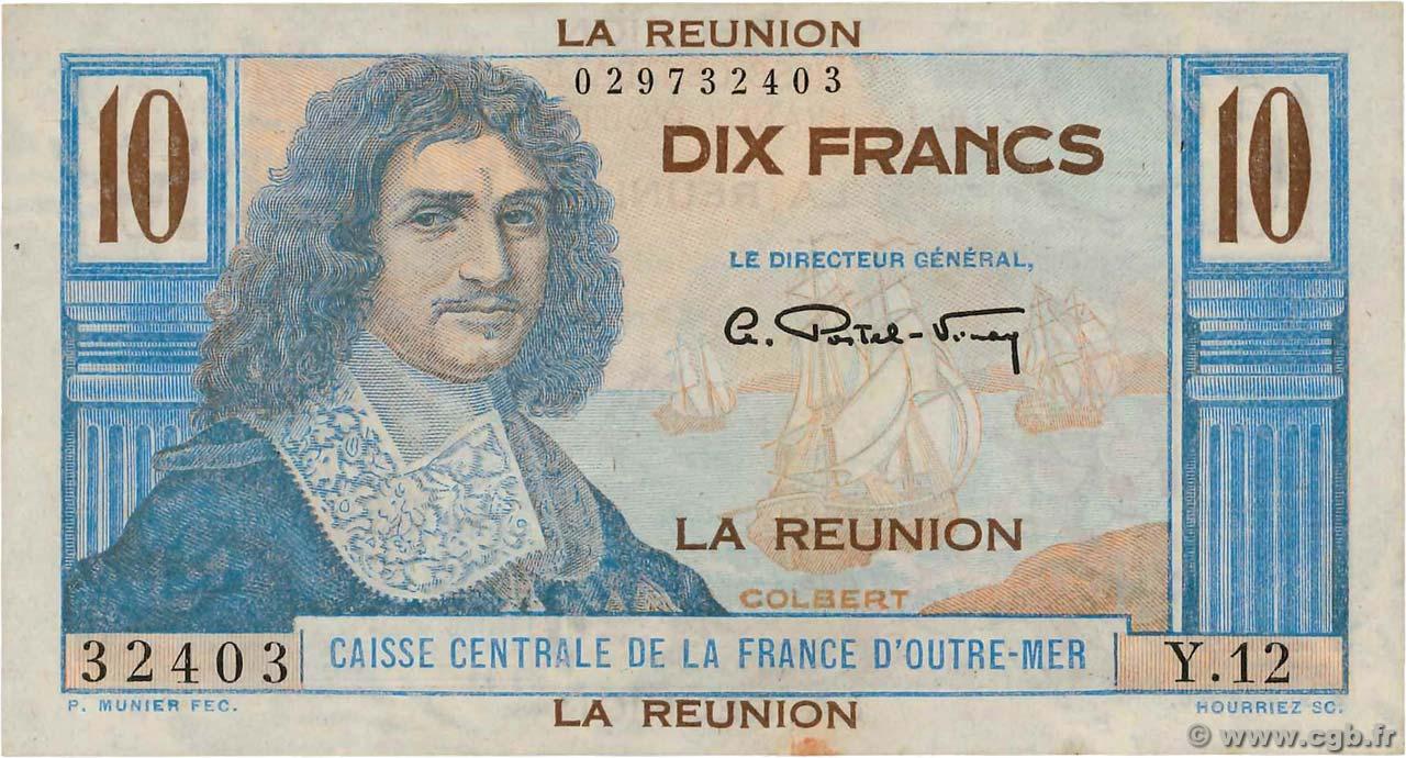 10 francs colbert le de la r union 1947 4180403 billets. Black Bedroom Furniture Sets. Home Design Ideas