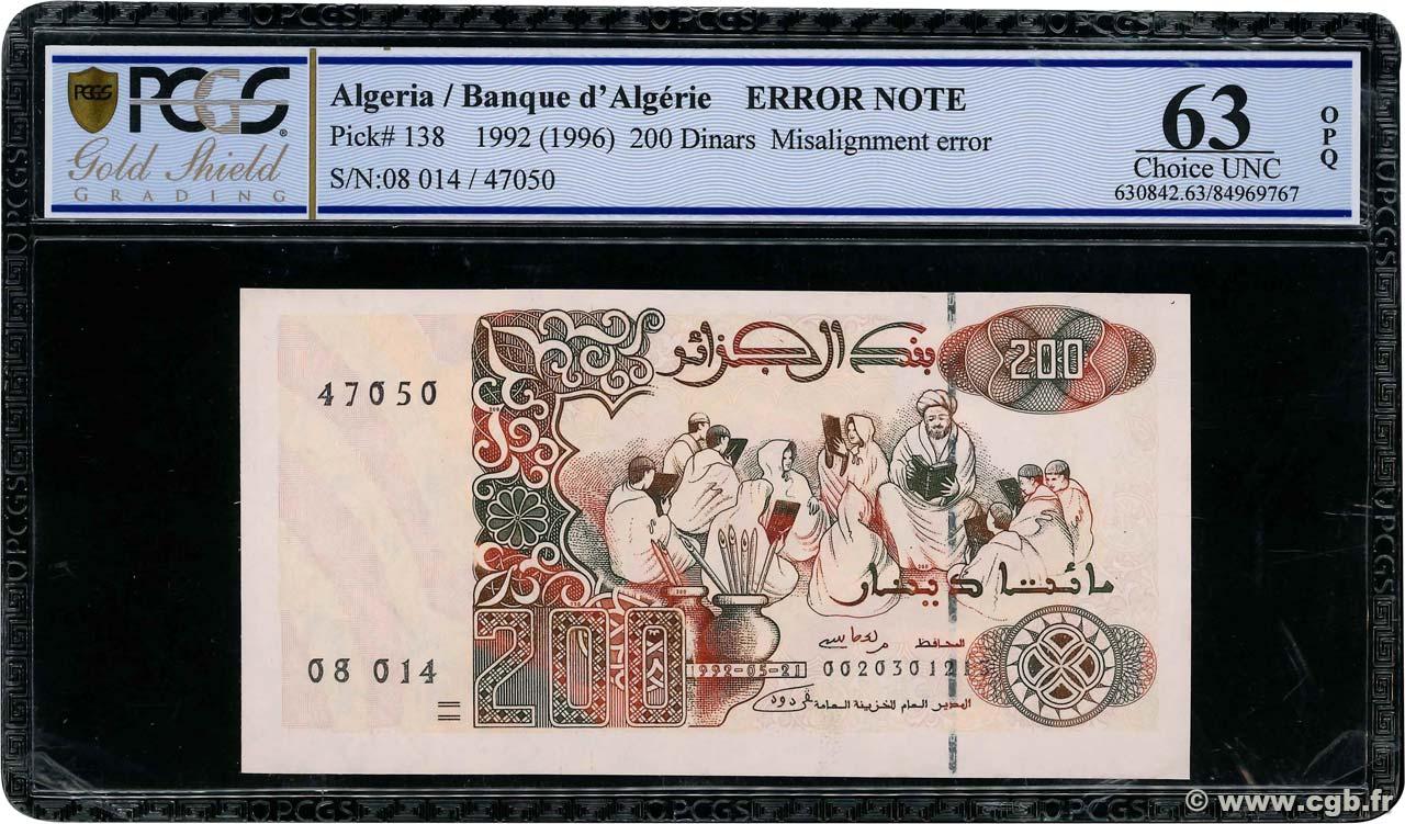 ALGERIA 200 DINARS 1992 P 138 UNC 1996