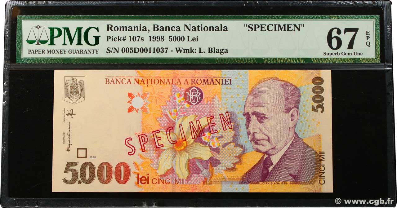 UNC Romania 1998 P-107 5000 Lei