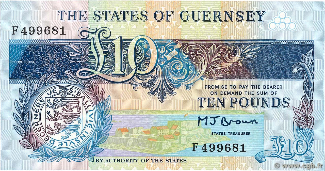 10 Pounds  GUERNESEY  1991 P.54a NEUF