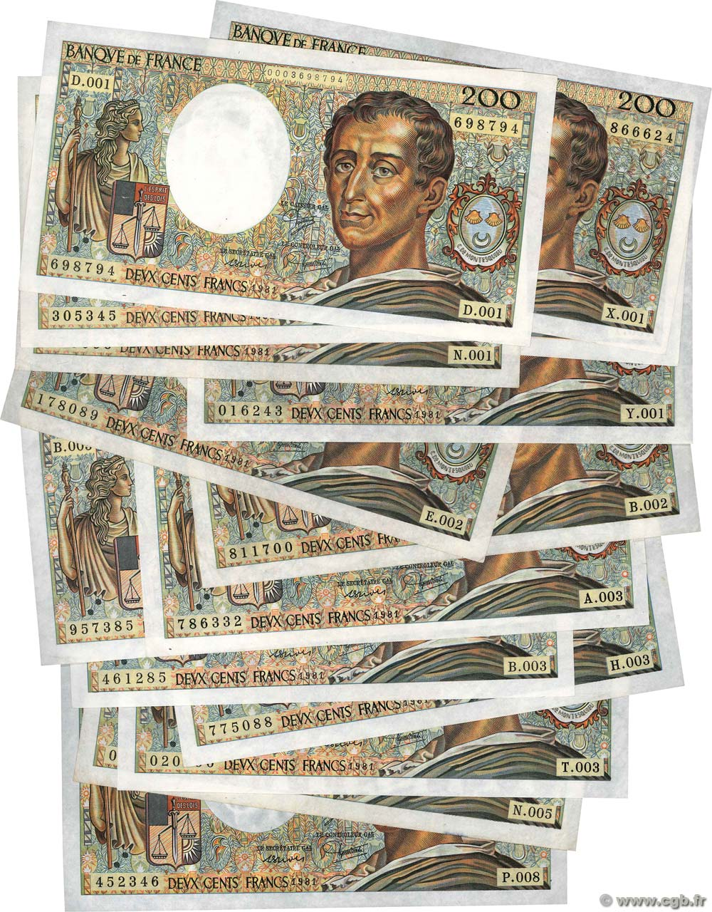 200 Francs MONTESQUIEU Lot FRANCE  1981 F.70.01 TTB+