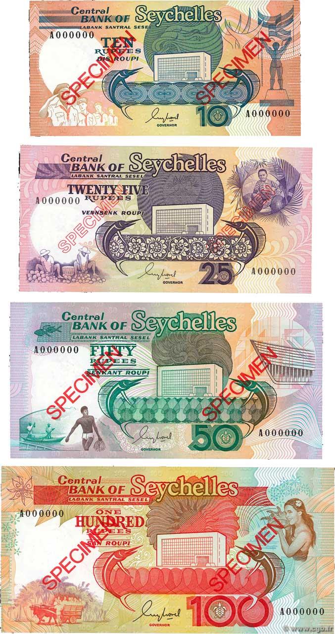 1989 ND Seychelles 25 Rupees P-33 UNC
