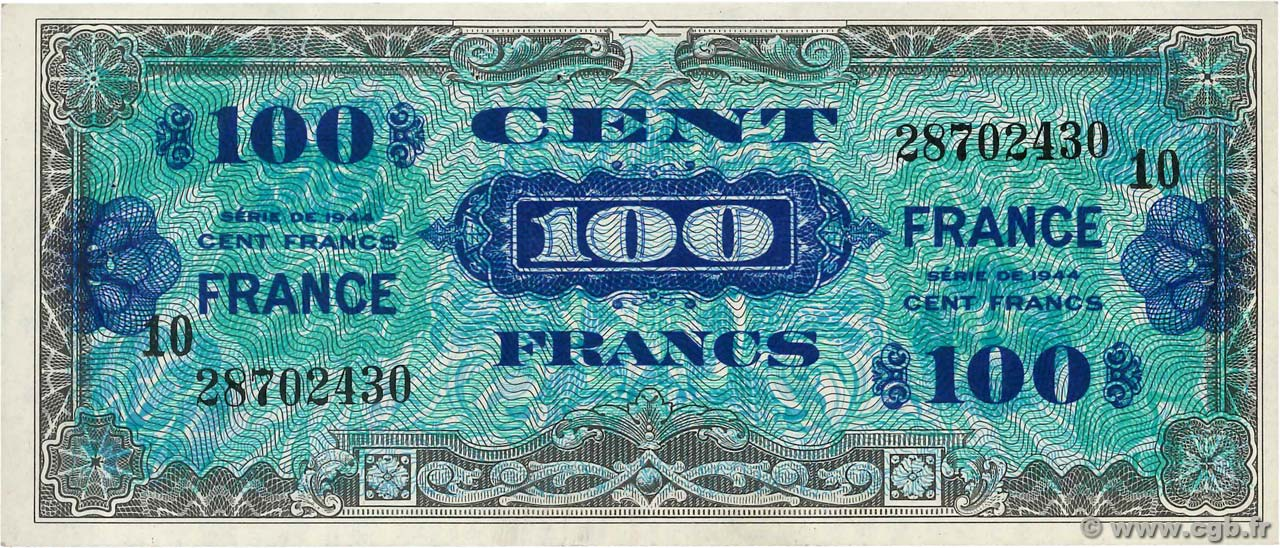 100 Francs FRANCE FRANCE  1945 VF.25.10 SUP