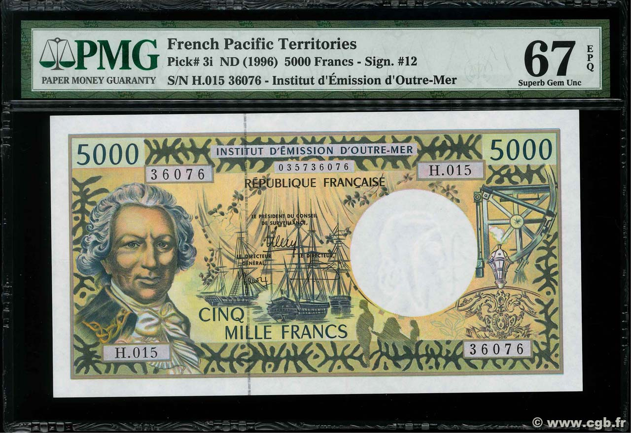 5000 Francs POLYNESIA, FRENCH OVERSEAS TERRITORIES  2010 P.03i UNC