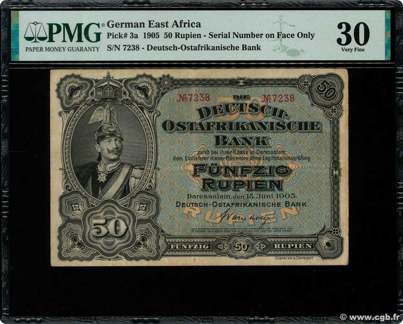 50 Rupien  GERMAN EAST AFRICA  1905 P.03a VF