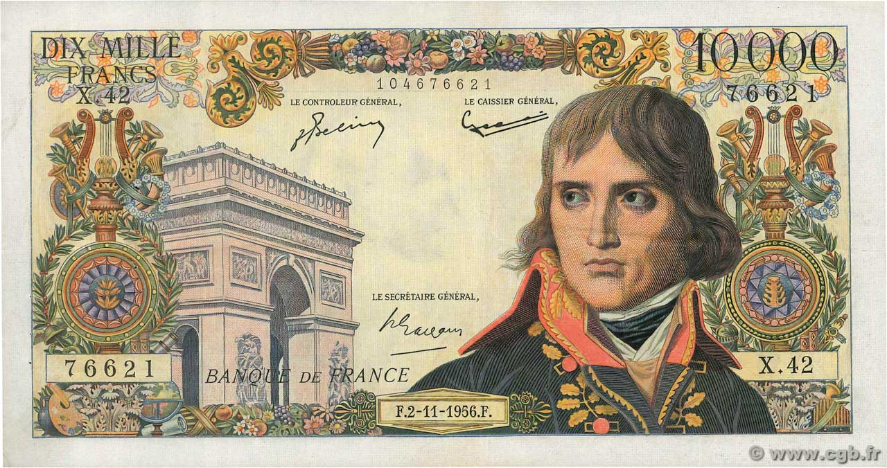 10000 Francs BONAPARTE  FRANCE  1956 F.51.05 TTB+