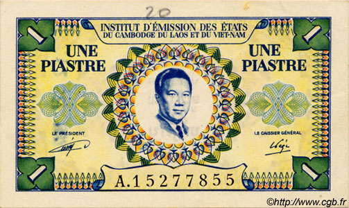 1 Piastre / 1 Dong INDOCHINE FRANÇAISE  1952 P.104 SUP