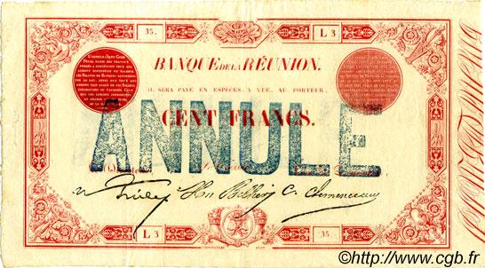 100 francs le de la r union 1875 p08 0037 billets. Black Bedroom Furniture Sets. Home Design Ideas