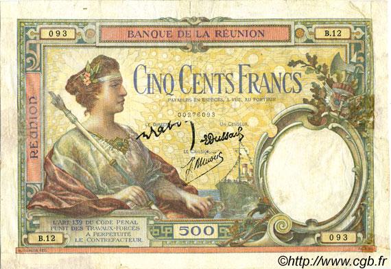 500 francs le de la r union 1944 p08 0049 billets. Black Bedroom Furniture Sets. Home Design Ideas