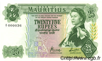 25 Rupees ÎLE MAURICE  1973 P.32b NEUF