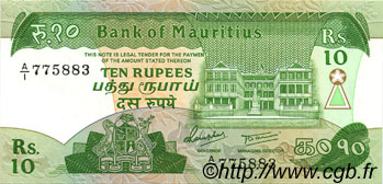 10 Rupees ÎLE MAURICE  1985 P.35b NEUF