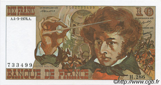 10 Francs BERLIOZ FRANCE  1976 F.63.18