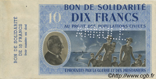 10 Francs FRANCE  1941 KL.07As SPL