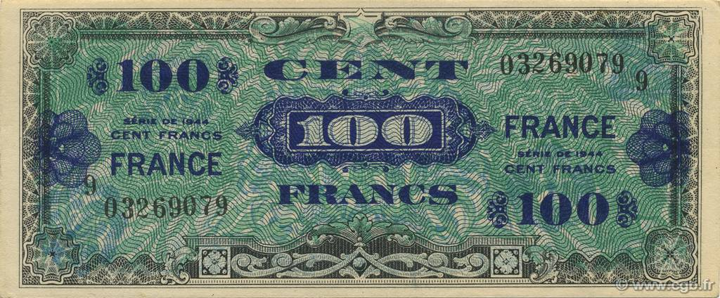 100 Francs FRANCE FRANCE  1944 VF.25.09 pr.SPL