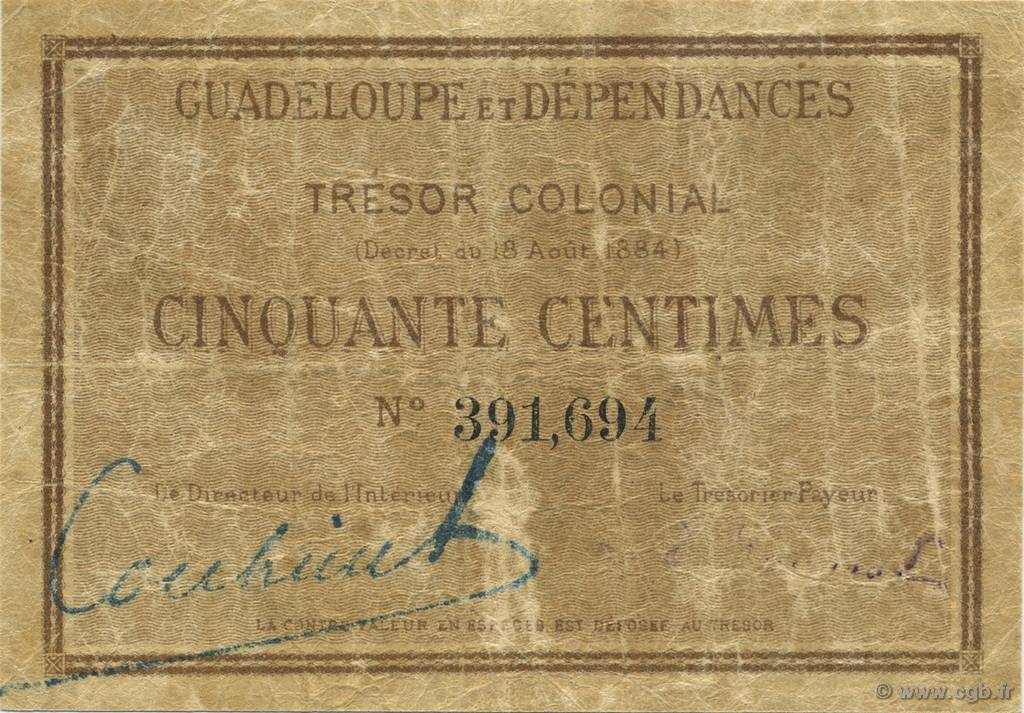 50 Centimes GUADELOUPE  1884 K.158a TB