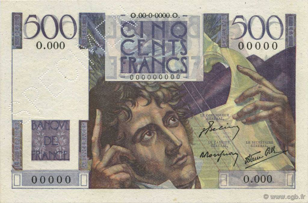 500 Francs CHATEAUBRIAND FRANCE  1945 F.34.00 NEUF