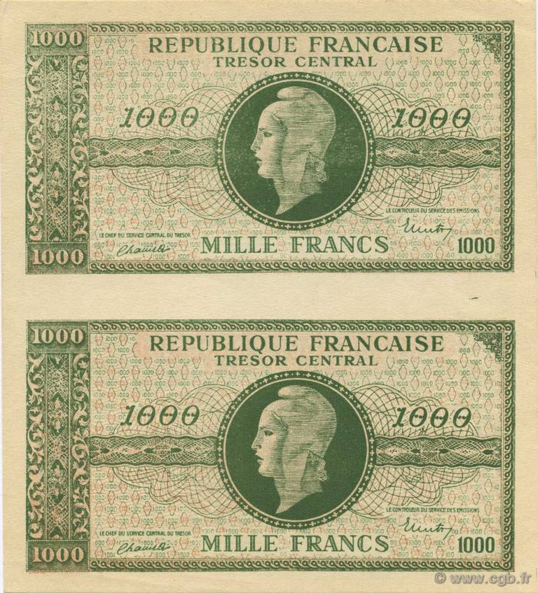 1000 Francs MARIANNE FRANCE  1945 VF.12.00 NEUF