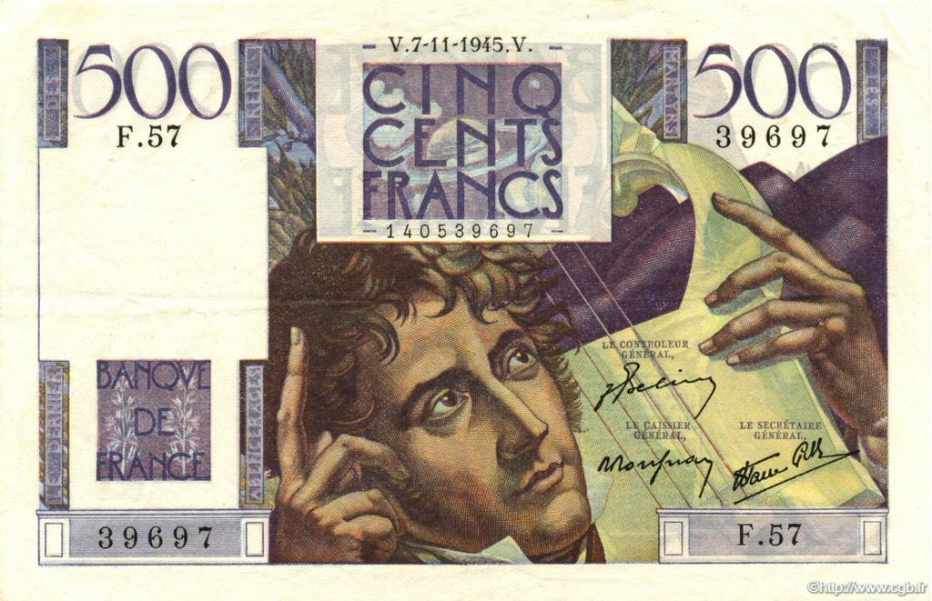 500 Francs CHATEAUBRIAND FRANCE  1945 F.34.03 SUP