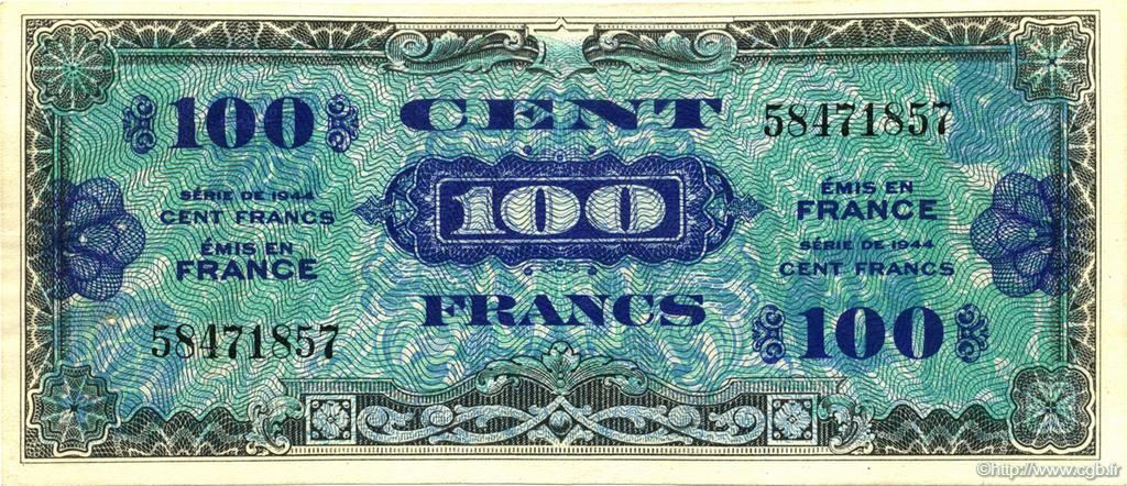 100 Francs Drapeau FRANCE  1944 VF.20.01 SUP