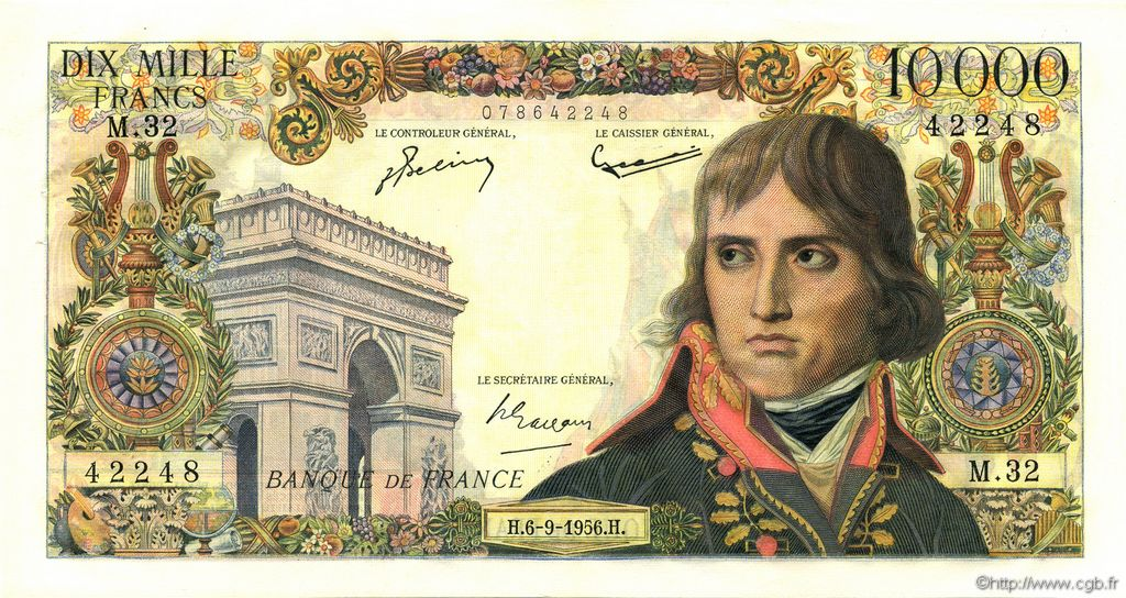 10000 Francs BONAPARTE FRANCE  1956 F.51.04 SPL