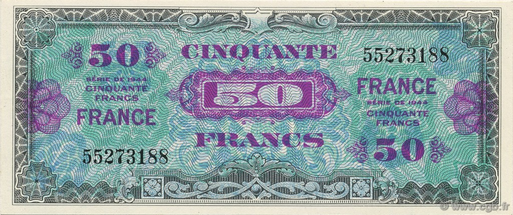 50 Francs FRANCE FRANCE  1945 VF.24.01 SPL+