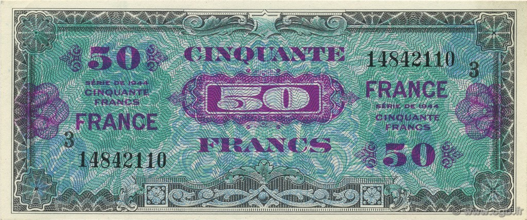 50 Francs FRANCE FRANCE  1945 VF.24.03 NEUF