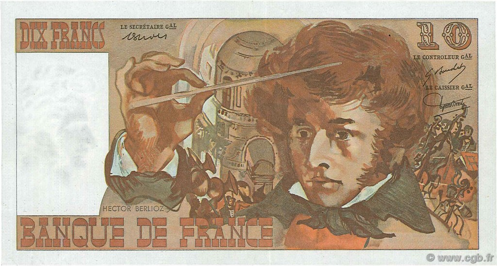 10 Francs BERLIOZ FRANCE  1972 F.63.00 SPL