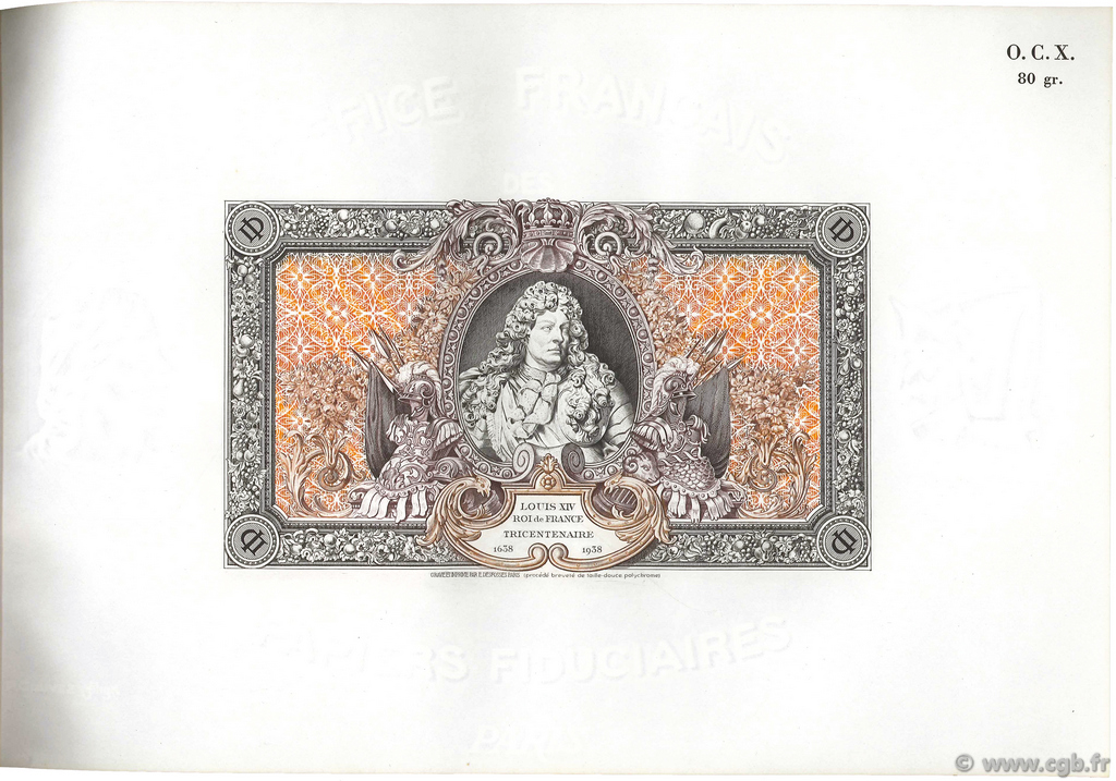 (1000) Francs LOUIS XIV FRANCE  1938  SUP