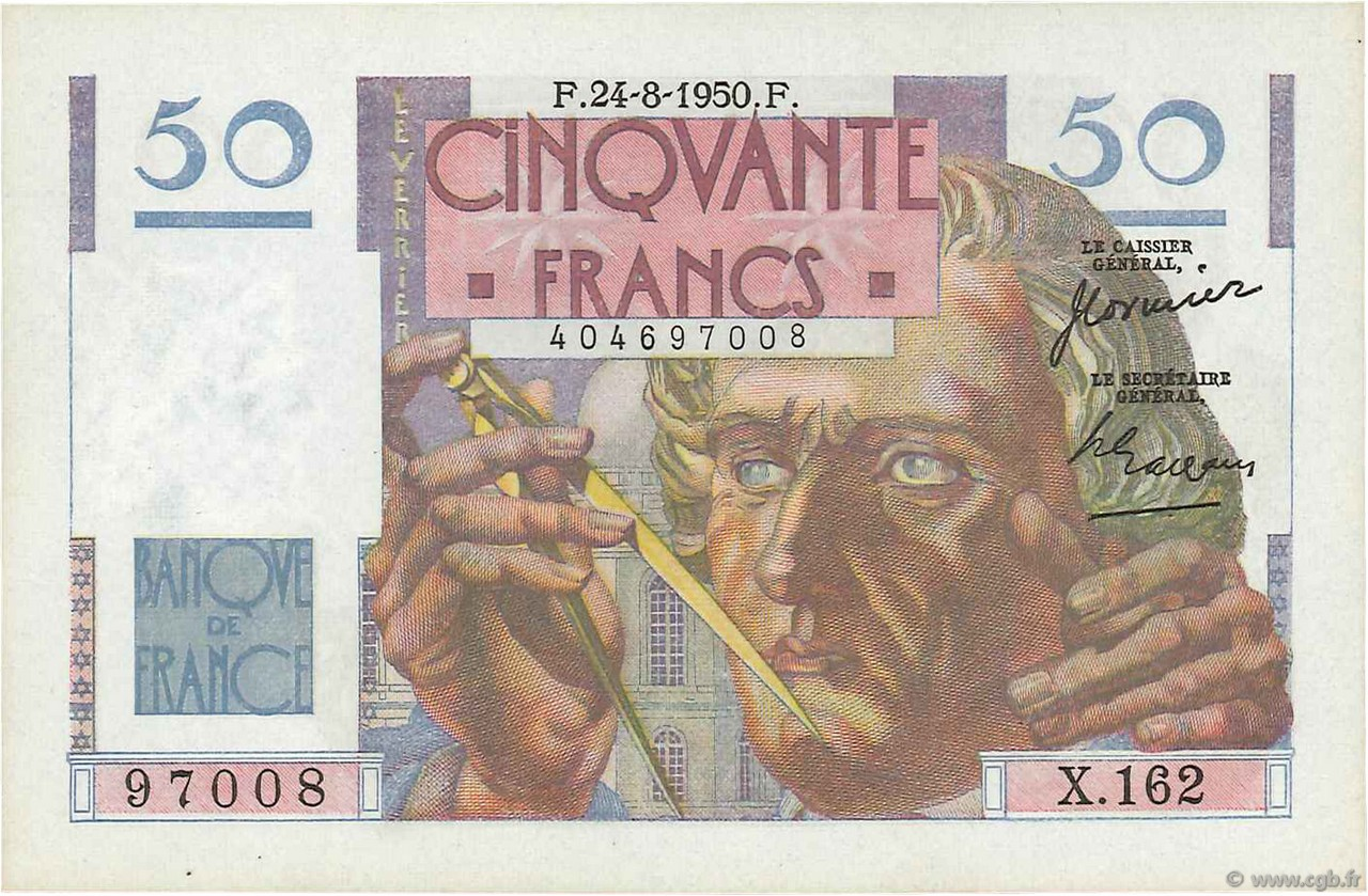 50 Francs LE VERRIER FRANCE  1950 F.20.16 NEUF