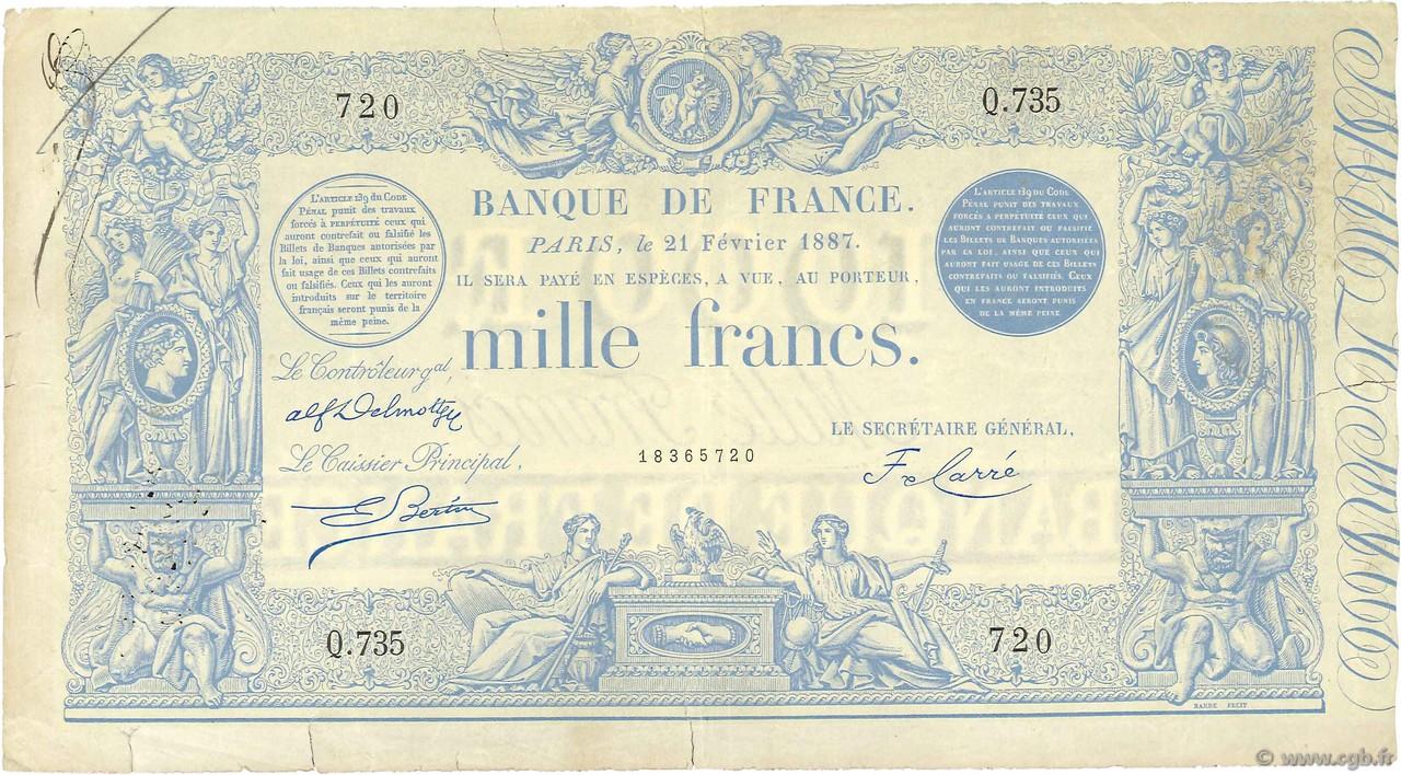 1000 Francs type 1862 Indices Noirs modifié FRANCE 1887 F.A50.07 p28_0042  Billets