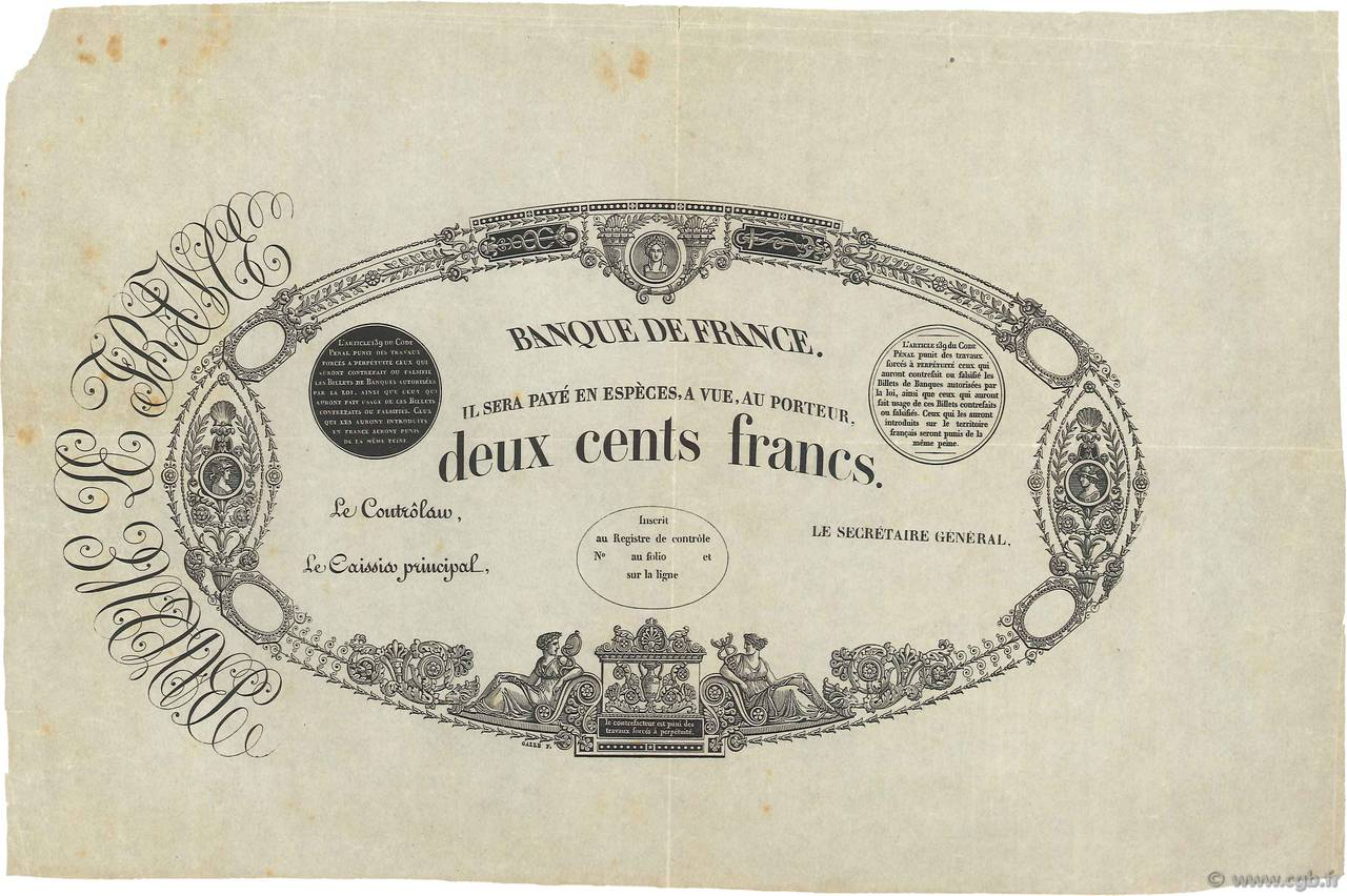 200 Francs type 1847 FRANCE  1847 F.A28.00 SUP