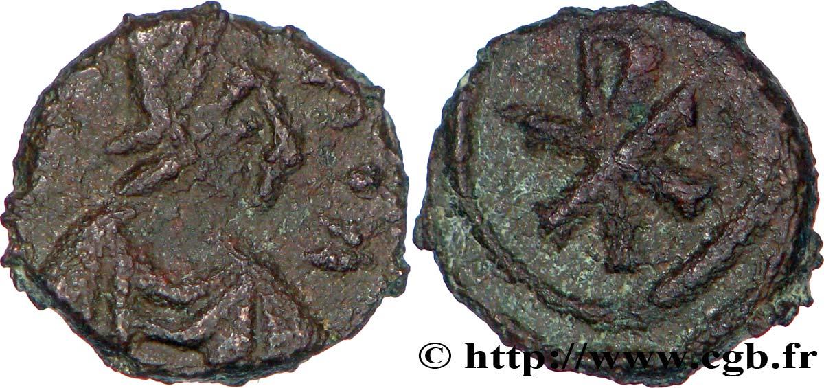 Nuevo nummus visigodo con busto y Crismón Bby_297026
