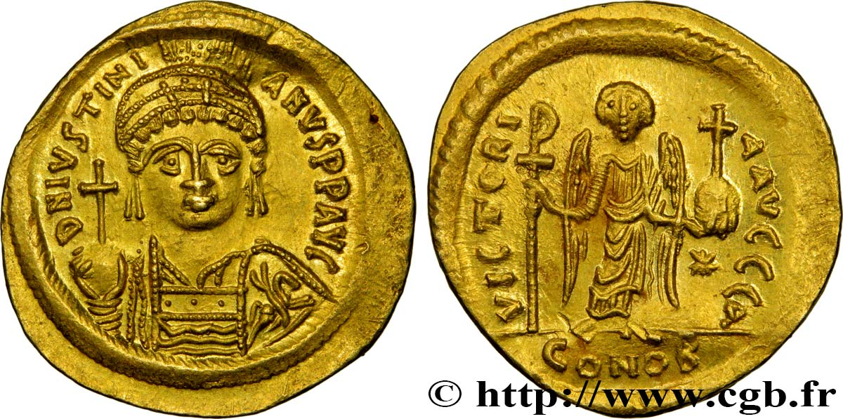JUSTINIAN I Solidus MS