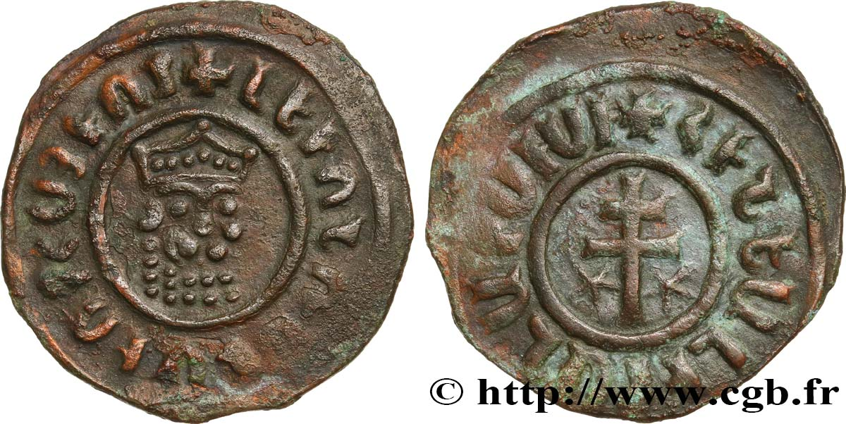 CILICIA - KINGDOM OF ARMENIA - LEO I King of Armenia Tank ou obole de bronze XF