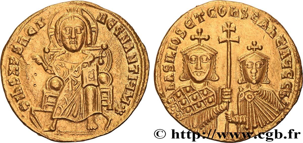 BASIL I and CONSTANTINE Solidus AU/MS