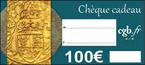 Chèque numismatique de 100 €