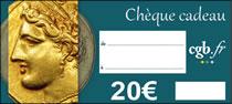 Chèque numismatique de 20 €