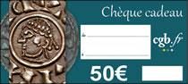 Chèque numismatique de 50 €